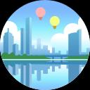 Melbourne skyline icon