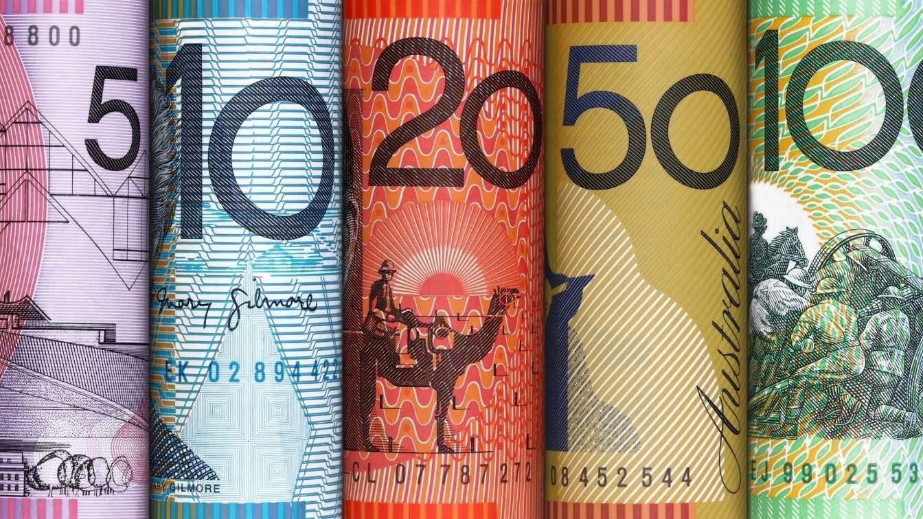 Australian bank notes of various denominations
